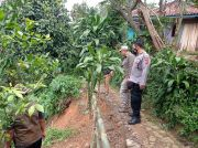 Titik Longsor di Gununghalu KBB Meluas, 12 Rumah Terancam