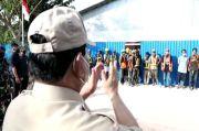 Sapa Pekerja Proyek RS LB Moerdani di Merauke, Prabowo: Matur Nuwun Ya