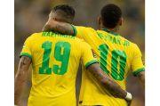 Hasil Kualifikasi Piala Dunia 2022 Zona CONMEBOL, Brasil vs Uruguay: Selecao Pesta 4 Gol