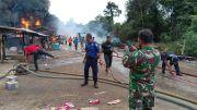 Geger, Gudang Penampungan Minyak Ilegal di Muarojambi Ludes Terbakar