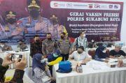 Polres Kota Sukabumi dan Perbarindo-LPS Gelar Sentra Vaksinasi Massal