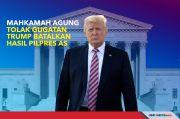 Mahkamah Agung Tolak Gugatan Trump Batalkan Hasil Pilpres AS