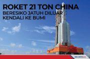 Roket 21 Ton China Beresiko Jatuh Diluar Kendali ke Bumi