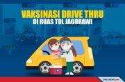 TNI Gelar Serbuan Vaksin Drive Thru di Tol Jagorawi