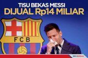 Tisu Bekas Usap Air Mata Lionel Messi Dijual Rp14 Miliar