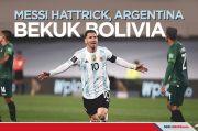Kualifikasi Piala Dunia: Messi Hattrick, Argentina Bekuk Bolivia