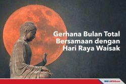 Gerhana Bulan Total Bersamaan Dengan Hari Raya Waisak