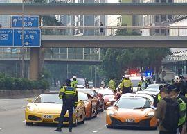 45 Supercar Dicegat Polisi Sekaligus Karena Balapan Liar