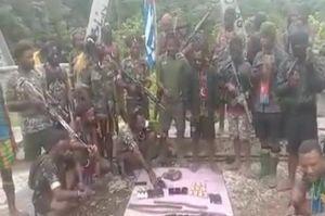 TPNPB OPM Pamer Senjata Rampasan, Ini Penjelasan Polda Papua