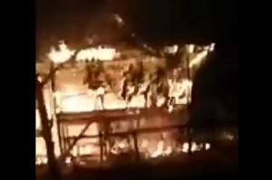 Asyik Nonton Berita COVID-19, 1 Rumah di Wajo Ludes Terbakar