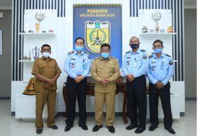 Aminullah Terima Audiensi Kakanwil Kemenkumham Aceh di Pendopo