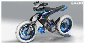 Tampang Futuristik dan Bertenaga Air ini Adalah Yamaha XT500 H20