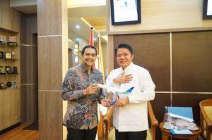 Mulai Penerbangan, Pimpinan PT. Garuda Indonesia Temui Gubernur Sumsel