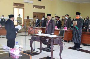 Bupati Najmul Lantik H.R. Nurjati sebagai Penjabat Sekda KLU