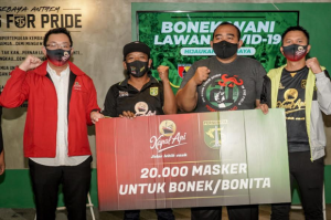 Kopi Kapal Api Perkuat Semangat Bonek Surabaya Perangi COVID-19