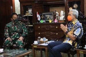 Disambangi KSAD Jenderal TNI Andika, Ganjar Beberkan Soal Penanganan COVID