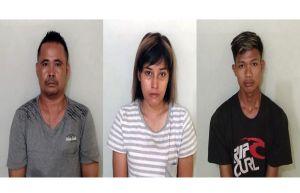 Buang Jaket Berisi Narkoba, 2 Pria dan 1 Cewek asal Batubara Ditahan Polsek Perdagangan