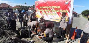 Kapolres Pasangkayu Meletakkan Batu Pertama Pembangunan Gedung Command Center