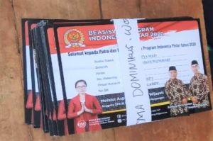 Weleh-Weleh, Kartu Program Indonesia Pintar Bergambar Paslon Bupati