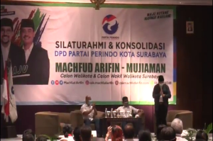 Perindo Surabaya Deklarasi Dukungan untuk Machfud Arifin-Mujiaman