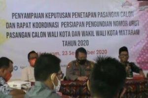 4 Pasangan Calon Resmi Bertarung di Pilkada Mataram 2020