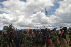 TNI/Polri Kontak Tembak dengan KKB OPM di Intan Jaya Papua
