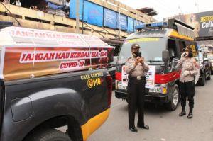Operasi Yustisi COVID-19, Polresta Pematangsiantar Usung Peti Mati