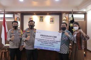 PT PP (Persero) Tbk Bantu 25.000 Masker Medis untuk Polda Sulut