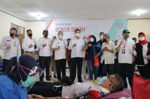 Bantu Stok Darah, Uus Kuswanto Instruksikan Camat Lurah Donor Darah