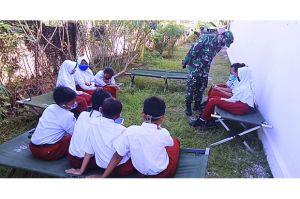 Permudah Belajar Daring, Satgas TMMD Bantu Kuota Internet Anak Sekolah