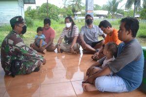 Satgas TMMD 1015/Sampit Sosialisasi Bahaya Karhutla