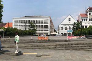 Jakarta PSBB Transisi, Masuk Taman Fatahilla Kota Tua Masih Dibatasi