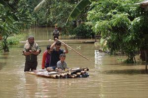 Bencana Banjir dan Longsor Landa Kebumen, Ribuan Warga Terpaksa Mengungsi