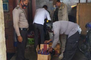Ratusan Botol Tuak Disita Petugas Gabungan di Lombok Timur