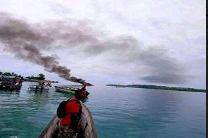 Ini Penyebab Terbakarnya Speedboat Pembawa Komisioner KPUD Raja Ampat