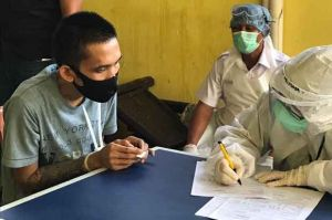 Puluhan Tahanan Polsek Cilincing Jalani Tes Integrasi HIV, TB dan Covid-19