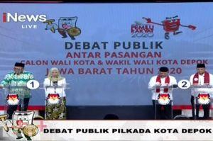 Panas, 2 Kandidat Wali Kota Depok Saling Sindir di Debat Putaran Ketiga