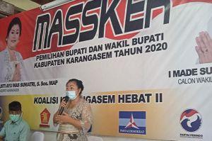 Diusung Perindo, Paket Masker Optimistis Menang di Pilkada Karangasem