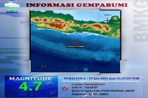 Gempa 4,7 SR Guncang Pangandaran