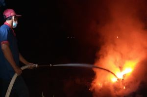 Mojokerto Gempar, Ledakan Dahsyat Mirip Bom Terjadi di Tumpukan Sampah