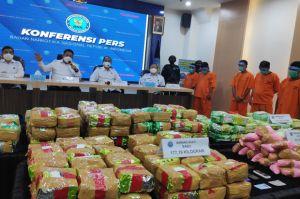 BNN Ungkap Sindikat Narkoba di Sumsel dan Aceh, 200 Kg Sabu dan Puluhan Ribu Ekstasi Diamankan