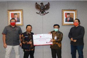 Karyawan Bank DKI Donasi Kemanusiaan Bencana Alam