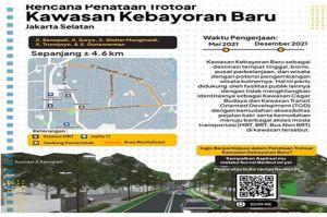 DKI Akan Tata Trotoar di Kawasan Kebayoran Baru dengan Konsep Complete Street