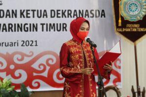Ivo Sugianto Sabran Melantik Ketua TP-PKK dan Ketua Dekranasda Kotim Periode 2021-2024