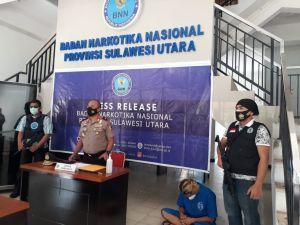 Oknum Sopir Truk Asal Sulteng Ditangkap Bawa Sabu di Sulut