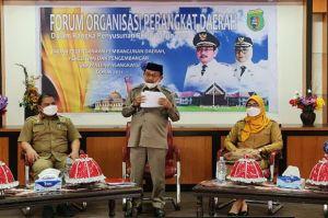 Bupati Pasangkayu Yaumil Ambo Djiwa Buka Forum Organisasi Perangkat Daerah 2021