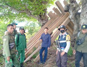 65 Batang Kayu Ilegal Loging Diamankan di Depan Rumah Kades