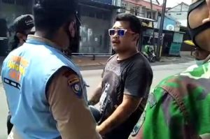 Terjaring Razia Masker, Pria di Ciracas Ngaku Anak TNI Tidak Percaya COVID-19