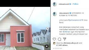 Ridwan Kamil Ungkap Donatur di Balik Give Away Rumah dan Motor Pahlawan COVID-19