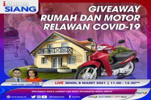 Gempar Giveaway Rumah dan Motor Buat Relawan COVID-19, Simak di iNews Siang Pukul 11.00 WIB